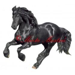 Samolepka frís, fríský kůň Pieter van Diphoorn