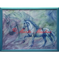 Obraz kladrubský kůň