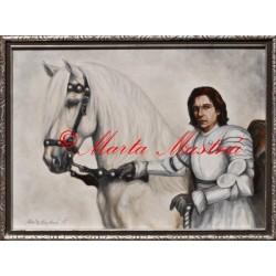 """Obraz ,,Bílý rytíř"""""""