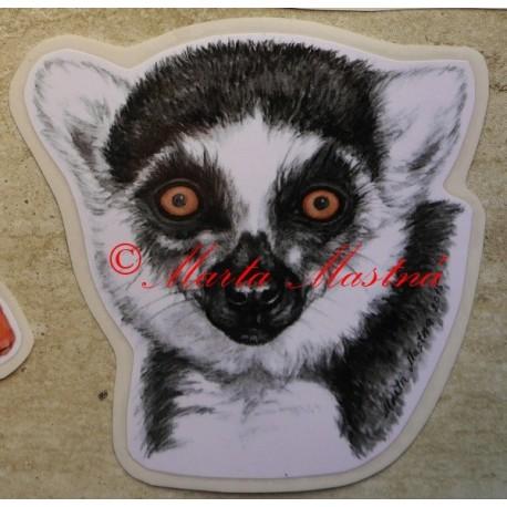 Samolepka lemur kata
