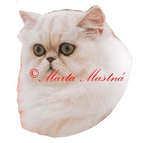 Samolepka kočka perská činčila