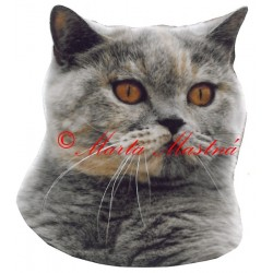 Samolepka kočka britská modrokrémová - archiv