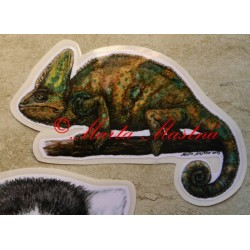 Samolepka chameleon