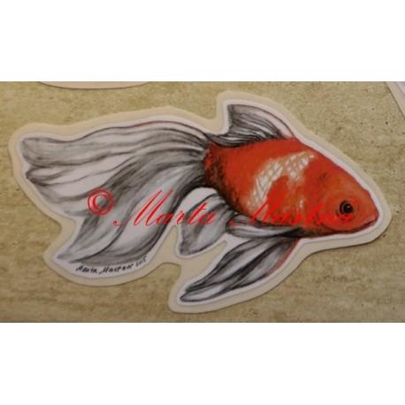 Samolepka rybička akvarijní závojnatka