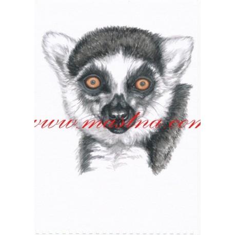 Autorský tisk lemur kata