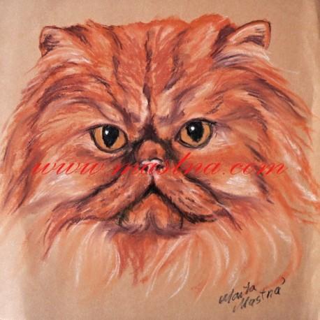 Autorský tisk kočka perská