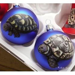 Skleněná ozdoba želva