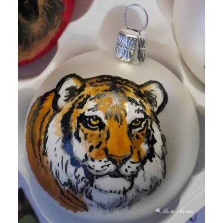 Skleněná ozdoba tygr