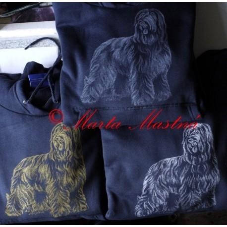 Malovaný textil briard