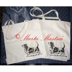 Malované tašky a trička baset