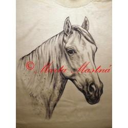 Malované tričko kůň