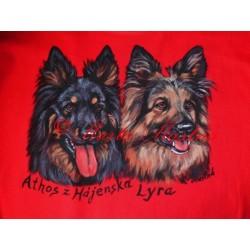 Malované tričko chodský pes
