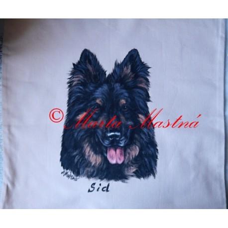 Malovaný polštářek chodský pes