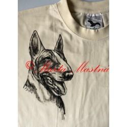 Malované tričko bulterér