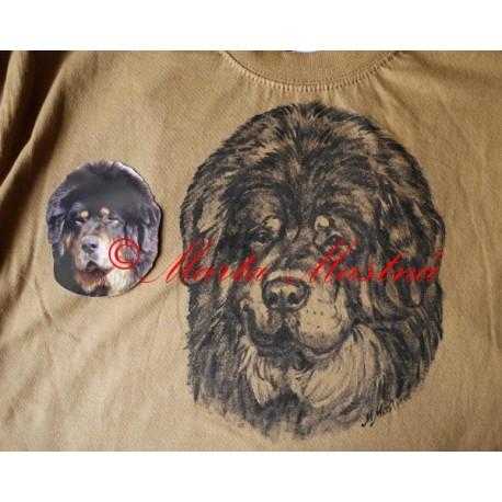Malované tričko tibetská doga
