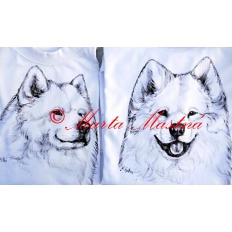 Malované tričko samojed
