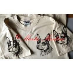 Malované tričko australský honácký pes
