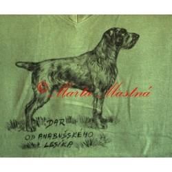 Malované tričko český fousek