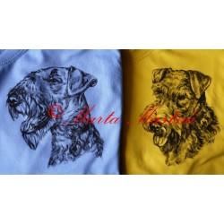 Malované tričko erderteriér, velšteriér