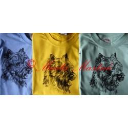 Malovaná trička kernteriér