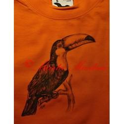 Malované tričko tukan