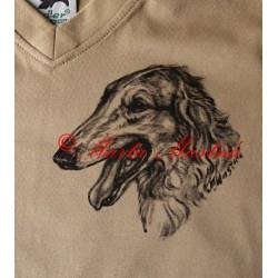 Malované tričko barzoj