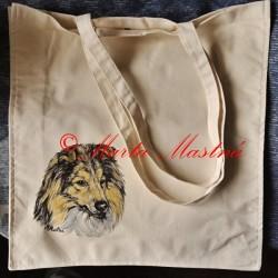 Malovaná taška šeltie