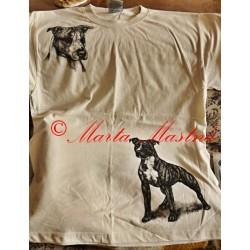 Malované tričko pitbul