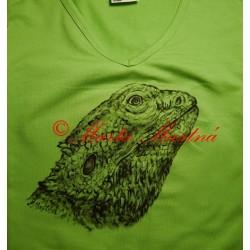 Malované tričko agama