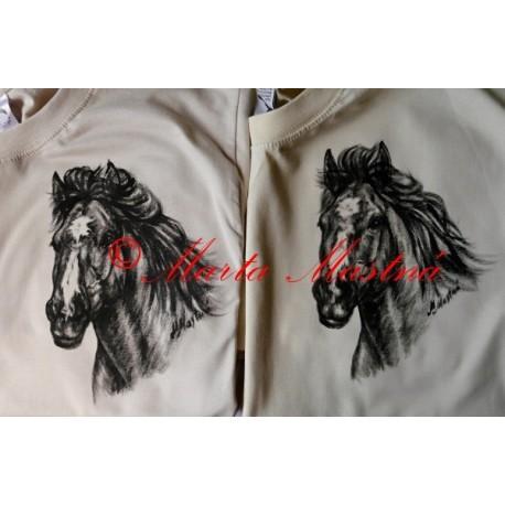 Malovaná trička kůň