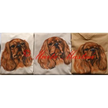 Malované mikiny king Charles španěl