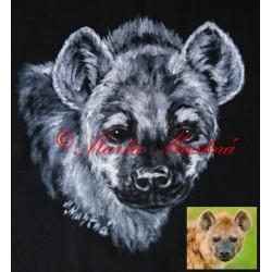 Malované tričko hyena