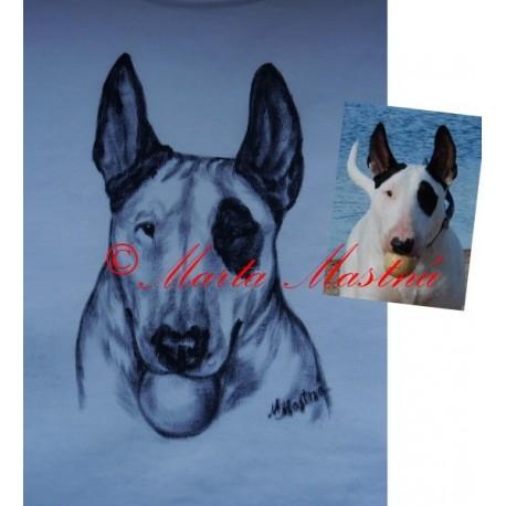 Malované tričko bulteriér