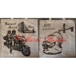 Malovaná taška baset, motorka
