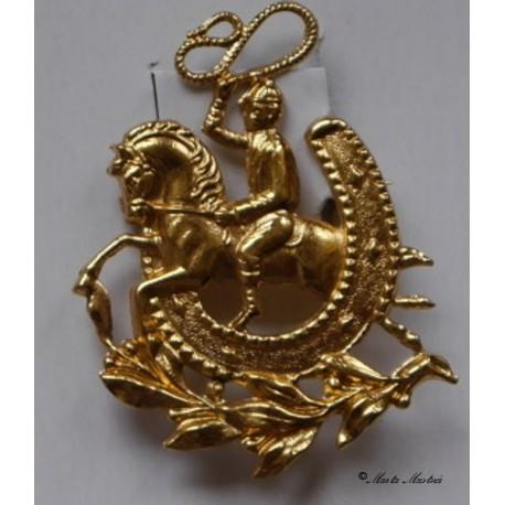 Brož kůň a jezdec