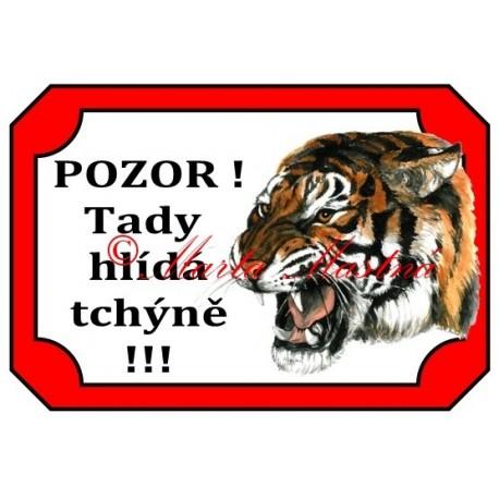 Tabulka tchýně, tygr