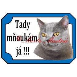 Tabulka kočka britská