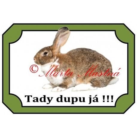 Tabulka králík strakáč