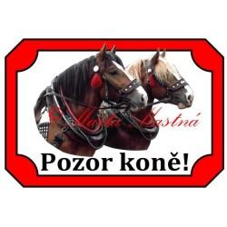 Tabulka kůň chladnokrevník, koně