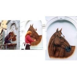 Malba na stěnu kůň