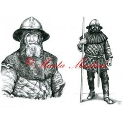 Kresba historického šermíře