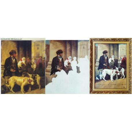 """Kopie starého obrazu ,,Obchodník se psy"""""""