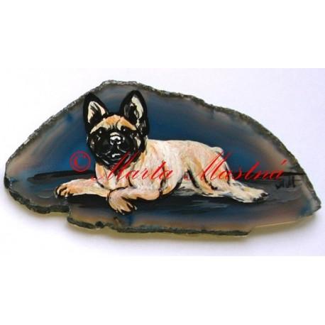 Malba na řezaný achát - psi