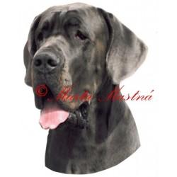Samolepka německá doga
