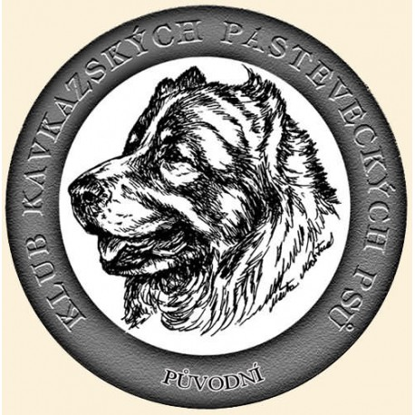 Kresba k logu Klubu chovatelů kavkazský pastevecký pes