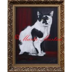 Portrét ve starém stylu - kočka
