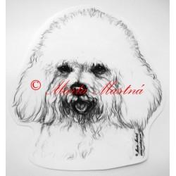 Samolepka boloňský psík