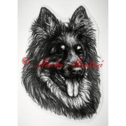 Samolepka chodský pes