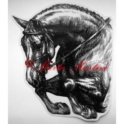 Samolepka kůň teplokrevník, parkur, koně