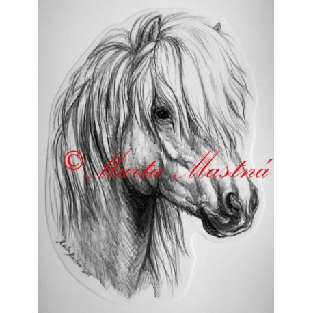 Samolepka kůň pony shetland islandský